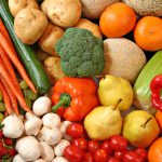 Fruit and vegetable variety.